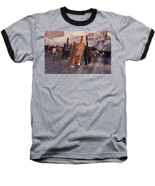 March Of The Mau Baseball T-Shirt