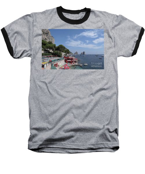 Marina Piccola Beach Baseball T-Shirt