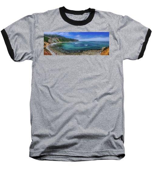 Marine Layer Over Bluff Cove Panorama Baseball T-Shirt