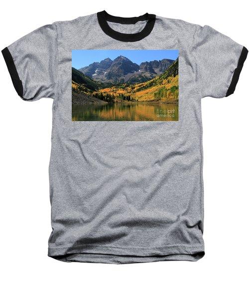 Maroon Bells In Fall Baseball T-Shirt