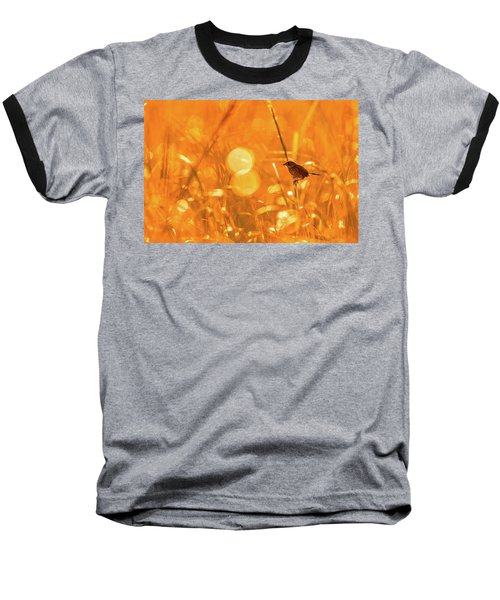 Marsh Sparrow Baseball T-Shirt