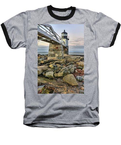 Marshall Point Light From The Rocks Baseball T-Shirt