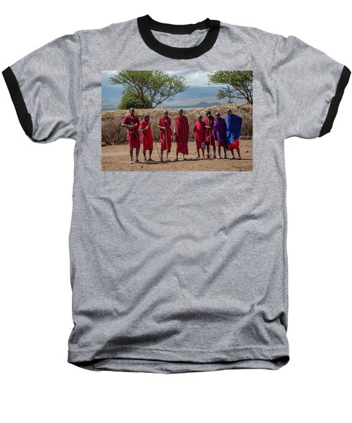 Maasai Men Baseball T-Shirt