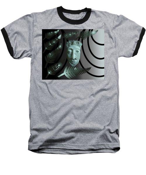 Mask The Maori Warrior Baseball T-Shirt