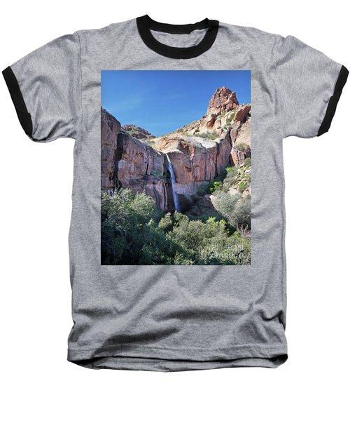 Massacre Trail Waterfall Baseball T-Shirt