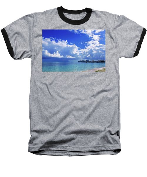 Massive Caribbean Clouds Baseball T-Shirt