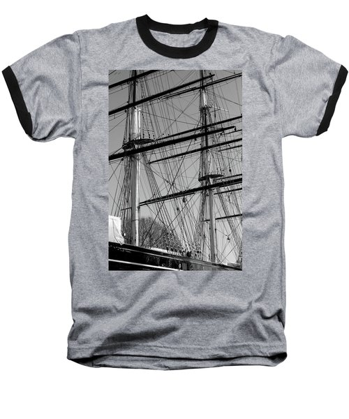 Masts And Rigging Of The Cutty Sark Baseball T-Shirt