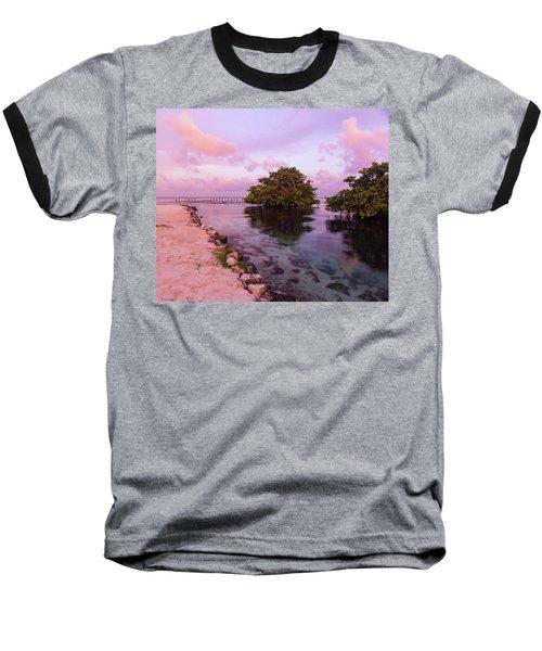 Mayan Sea Reflection Baseball T-Shirt