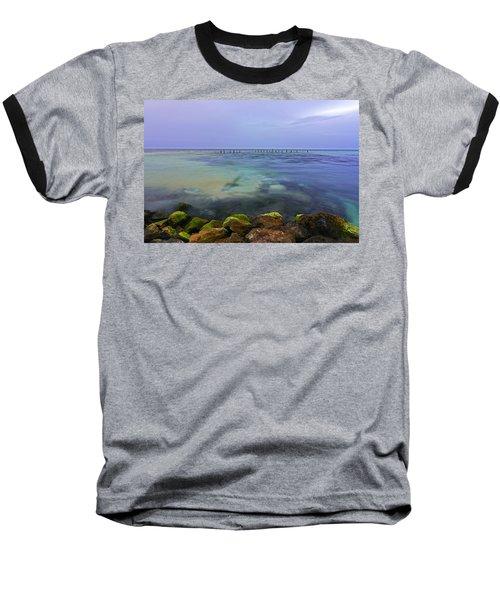 Mayan Sea Rocks Baseball T-Shirt