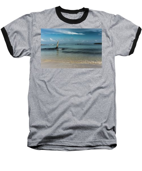 Mayan Shore 3 Baseball T-Shirt
