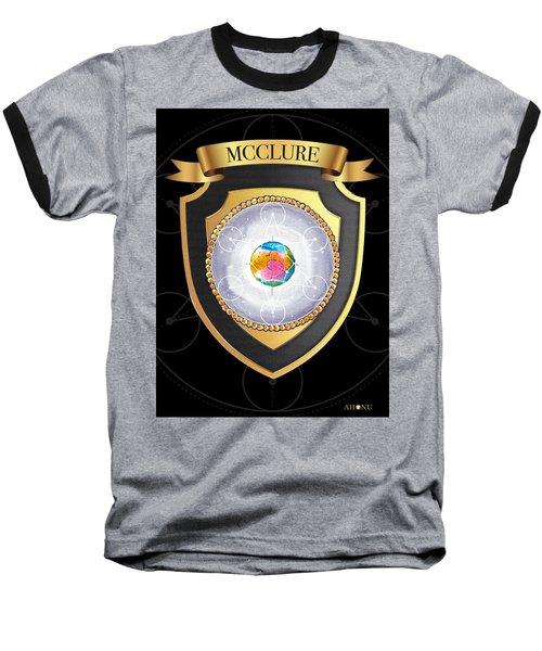 Mcclure Family Crest Baseball T-Shirt