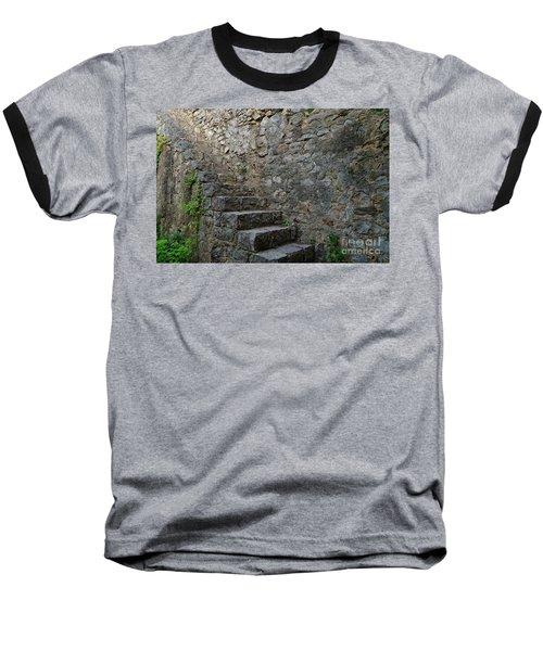 Medieval Wall Staircase Baseball T-Shirt