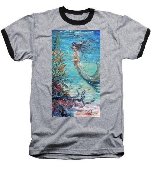 Mermaid Neighbors Baseball T-Shirt