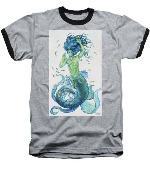 Merman Clyde Baseball T-Shirt