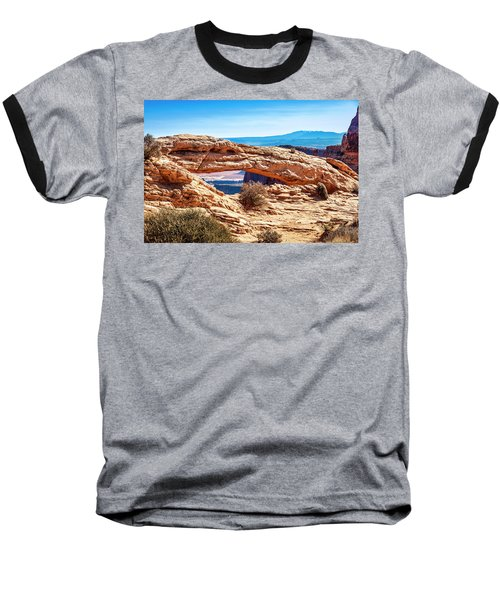 Baseball T-Shirt featuring the photograph Mesa Arch by Andy Crawford