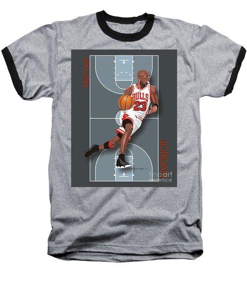 Michael Jordan, No. 23 Baseball T-Shirt