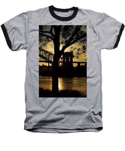Mid Autumn Silhouette Baseball T-Shirt
