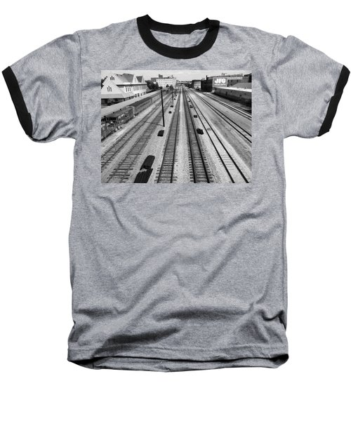 Middle Of The Tracks Baseball T-Shirt