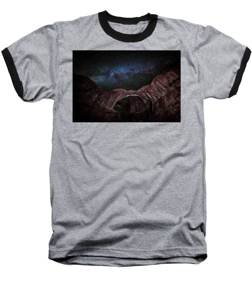 Baseball T-Shirt featuring the photograph Milky Way At Double Arch by David Morefield