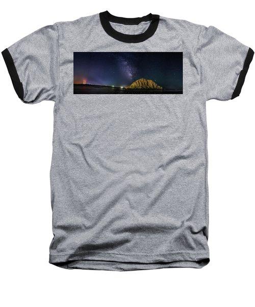 Milky Way Over Morro Rock Baseball T-Shirt