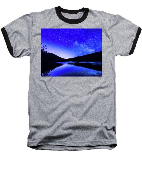 Milky Way Over Springtime Echo Lake Baseball T-Shirt