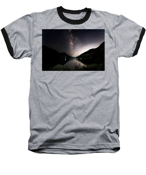 Milky Way Over The Ou River Near Longquan In China Baseball T-Shirt