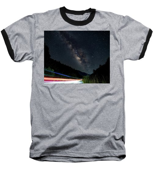 Milky Way Over The South Road Baseball T-Shirt
