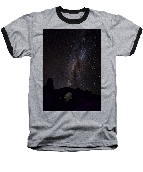 Baseball T-Shirt featuring the photograph Milky Way Over The Windows by David Morefield