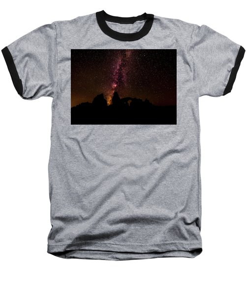 Baseball T-Shirt featuring the photograph Milky Way Over Turret Arch by Andy Crawford
