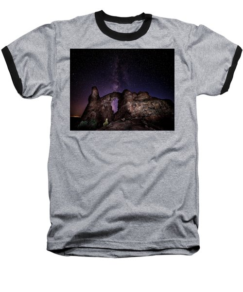 Baseball T-Shirt featuring the photograph Milky Way Over Turret Arch by David Morefield