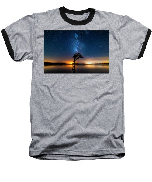 Baseball T-Shirt featuring the photograph Milky Way Swamp by Andy Crawford
