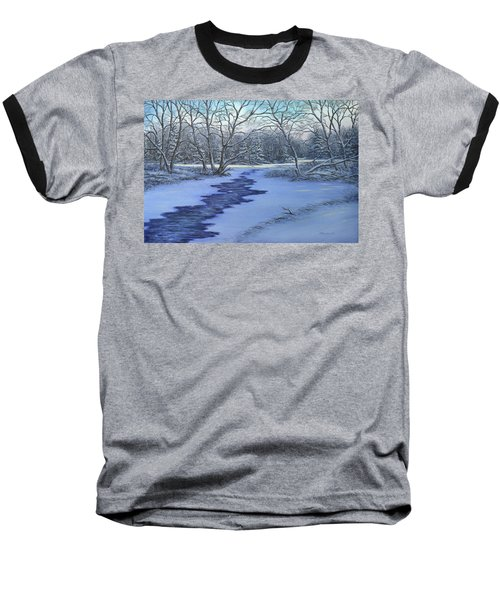 Millhaven Creek In Winter Baseball T-Shirt
