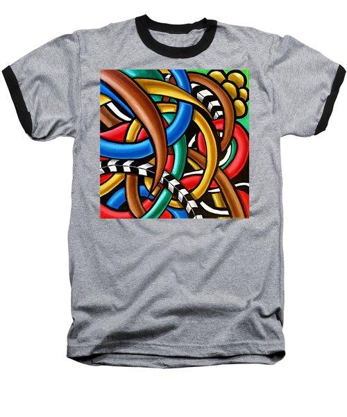 Colorful Abstract Art Painting Chromatic Intuitive Energy Art - Ai P. Nilson Baseball T-Shirt