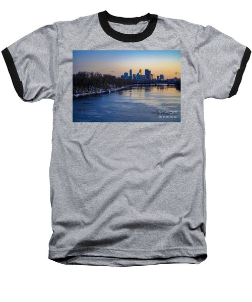 Minneapolis Skyline Baseball T-Shirt