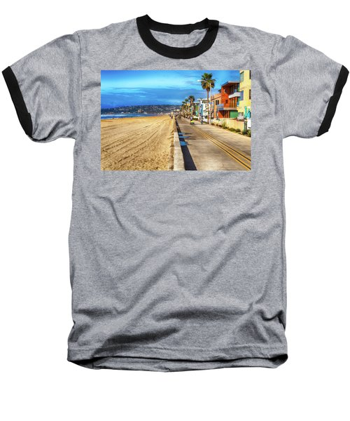 Mission Beach Boardwalk Baseball T-Shirt