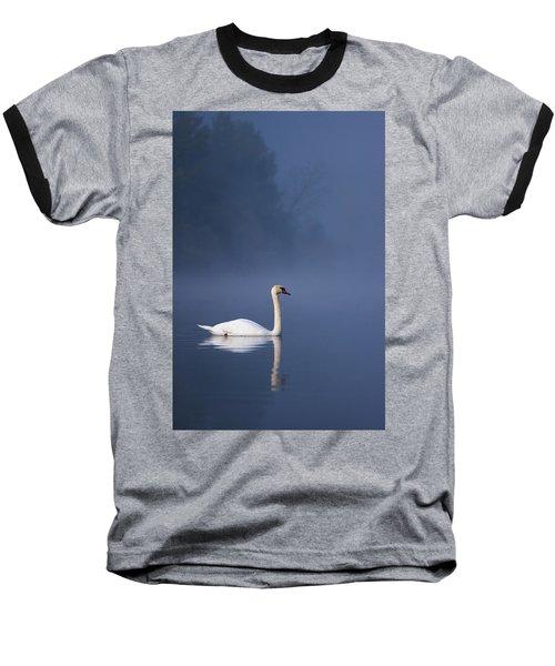 Misty River Swan 2 Baseball T-Shirt