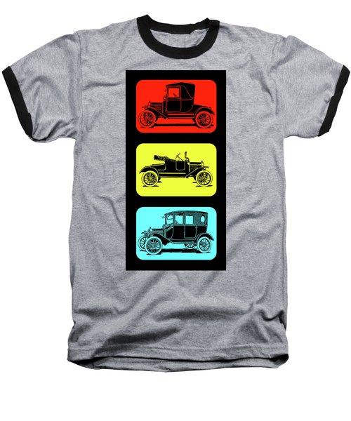 Model T Ford Triple Baseball T-Shirt