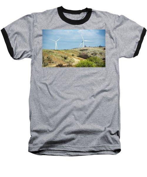 Modern Windmill Baseball T-Shirt
