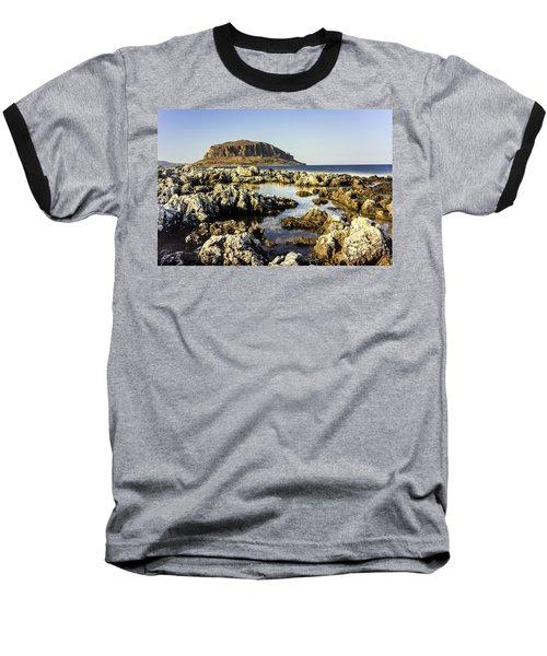 Monemvasia Rock Baseball T-Shirt
