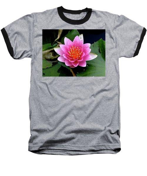 Monet Water Lilly Baseball T-Shirt