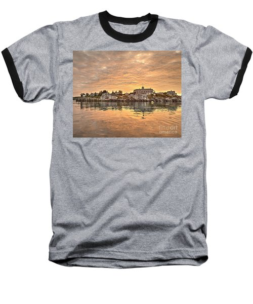 Monhegan Sunrise - Harbor View Baseball T-Shirt