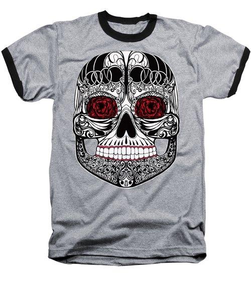 Monika's Sugar Skull Baseball T-Shirt