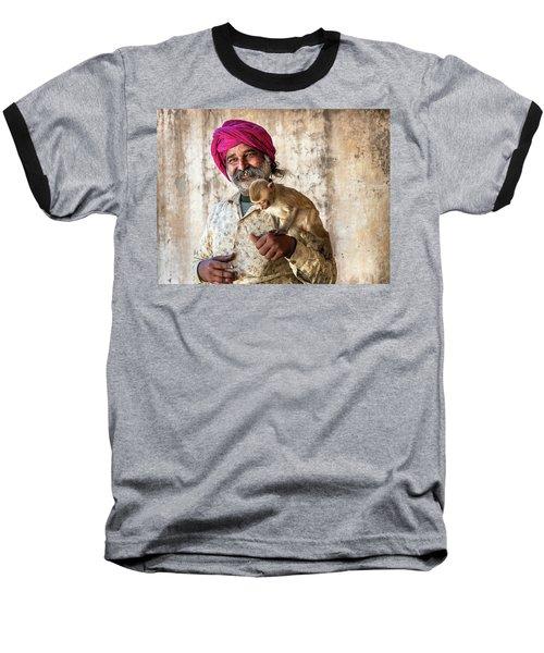 Monkey Temple Baseball T-Shirt