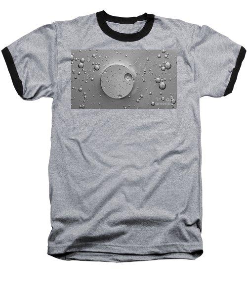 Monochrome Abstract Baseball T-Shirt