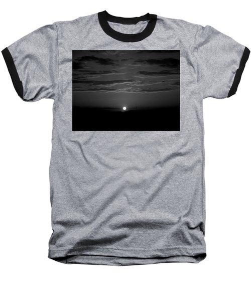 Monochrome Sunrise Baseball T-Shirt