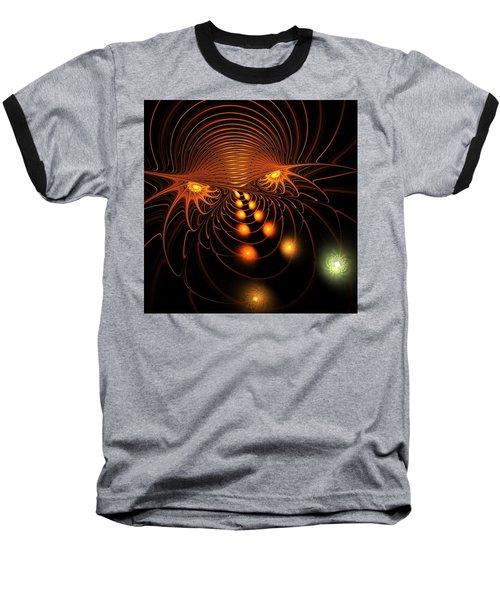 Baseball T-Shirt featuring the digital art Monster's Eyes by Anastasiya Malakhova