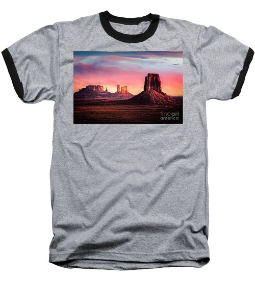 Monument Valley Sunrise Baseball T-Shirt