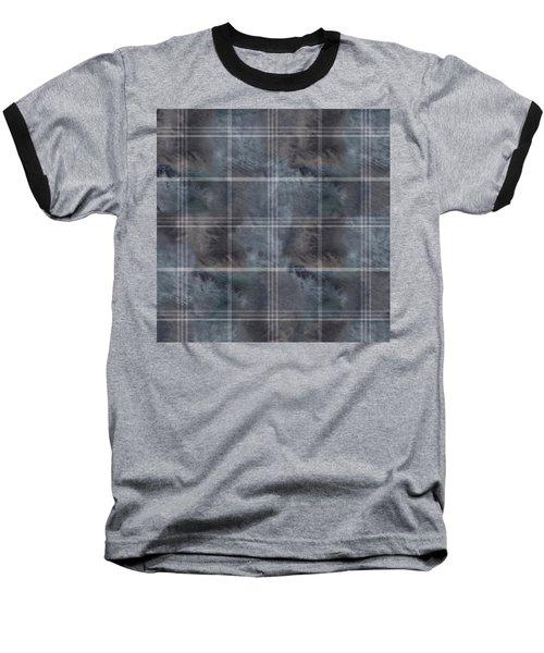Moody Blue Plaid Baseball T-Shirt