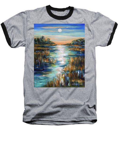 Moon Over Waterway Baseball T-Shirt
