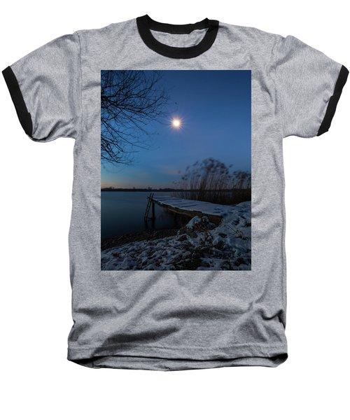 Moonlight Over The Lake Baseball T-Shirt